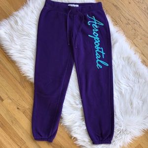 Aeropostale Purple Sweatpants